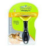 FURminator Long Hair deShedding Tool for Dogs, Large