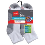Hanes Men's FreshIQ Max Cushion Ankle Socks 6-Pack