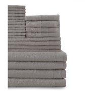 Baltic Linen 24-Piece Cotton Bath Towel Set