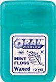 Waxed Flat Mint Ribbon Dental Floss, 144 pcs