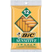 BIC Sensitive Shaver Disposable Razor, Men, 12 Ct