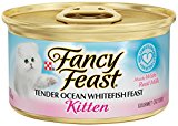 Purina Fancy Feast Kitten Tender Ocean Whitefish Feast Cat Food -  3 oz. Pull-top Can (Pack of 24)