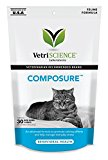 VetriScience Laboratories Composure, Calming Formula for Cats, 30 Bite-Sized Chews