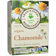 Traditional Medicinals, Herbal Teas, Organic Chamomile, Naturally Caffeine Free, 16 Wrapped Tea Bags, .74 oz (pack of 1)