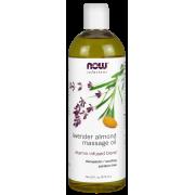 NOW Lavender Almond Massage Oil, 16 Fl Oz