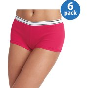 Hanes Women's Sporty Cotton Boyshort Panties 6-Pack
