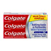 Colgate Baking Soda and Peroxide Whitening Toothpaste - 8 oz, 3 Count