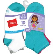 Hanes Girls? Comfortblend Assorted Ez Sort Low Cut Socks 10 Pack