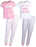 dELiA*s 2-Pack Girls Pajama Sleepwear Sets (2 Full Sets) (7-8, Keep Dreaming)'