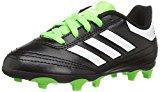 adidas Kids' Goletto VI J Firm Ground Soccer Cleats, Black/White/SGreen, 2 Medium US Little Kid