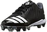 adidas Unisex-Kids Icon MD K Baseball Shoe, Core Black, Ftwr White, Onix, 1.5 M US Little Kid