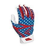 Easton Z7 Hyperskin Batting Pair Gloves, Stars/Stripes, Large