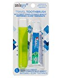 Dental Source Travel Toothbrush and Crest Toothpaste Kit, Assorted, 1.6 Ounce