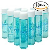 High-End Mini Hotel 2-in-1 Shampoo & Conditioner 10 Pack by Oasis. Leak-Free, Travel-Size Value Set. Light & Compact for Extended Traveling, Hiking, Camping & Backpacking. Thin, Water-Tight Bottles.