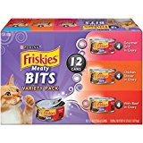 Purina Friskies Meaty Bits Variety Pack Adult Wet Cat Food - (2 Packs of 12) 5.5 oz. Cans