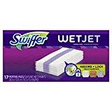 Swiffer WetJet Hardwood Floor, Wet Jet Mop Pad Refills, Original Scent Refill, 17 Count