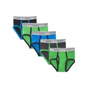 Boys' Stripe and Solid Briefs, 5 Pack