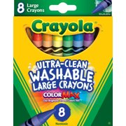 Crayola 8 count Ultra-Clean Large Non-Toxic Washable Crayon Set in Assorted Colors