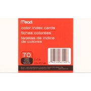 """Mead Ruled Colored Index Cards, 3"""" x 5"""", Assorted Colors"""