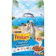 Purina Friskies Seafood Sensations Adult Dry Cat Food, 3.15 Lb