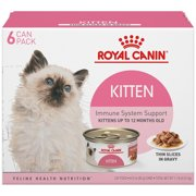Royal Canin Feline Health Nutrition Kitten Instinctive Thin Slices in Gravy All Breeds Kitten Wet Cat Food, 3 oz (Pack of 6)