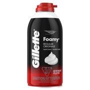 Gillette Foamy Regular Shaving Foam, 11 oz