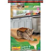 Purina Friskies Indoor Delights Chicken, Beef, Salmon, Cheese, Garden Greens Flavors Adult Dry Cat Food, 16 Lb