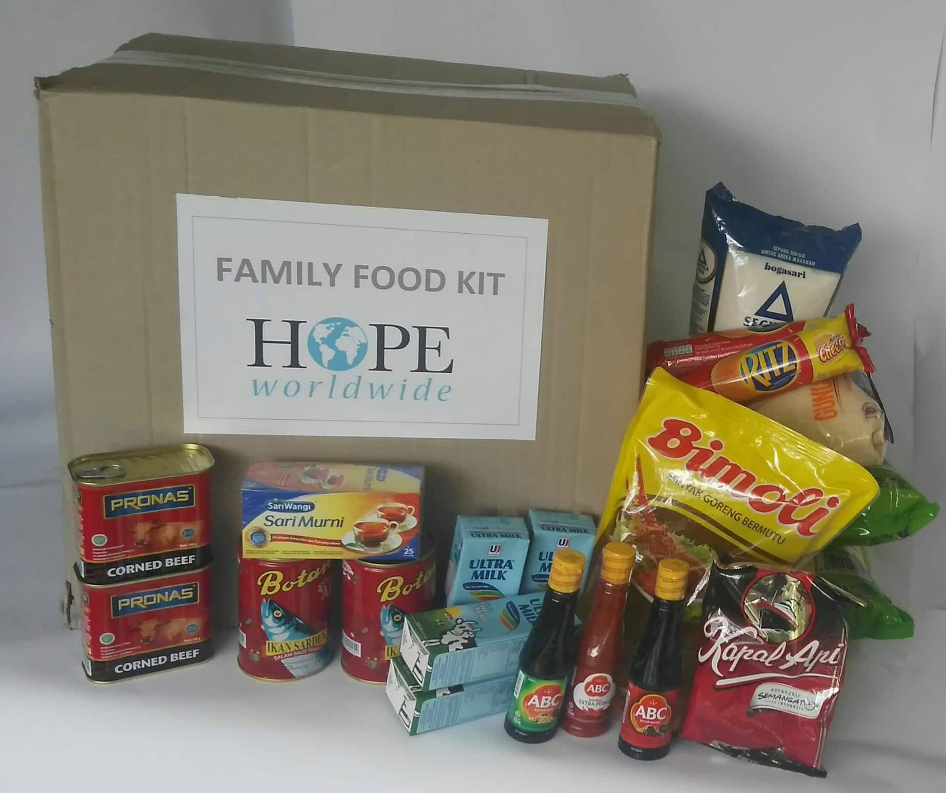 Family Food Kit Indonesia Palu (for family 4-5, one week)