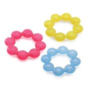 IcyBite Soother Ring Teether, Colors May Vary, Cool textured surfaces soothe, stimulate and clean baby's gums By Nuby