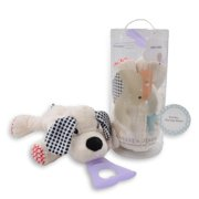 Nissi & Jireh 4 In 1 Pacifier holder plush toy Teether, Dog