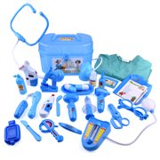 Medical Doctor Kit Toys for Kids Learning Resources Pretend  Play Doctor Play Set for Kids Holiday Gifts, School Classroom Roleplay Costume Dress-Up Toy 27Pcs F-163