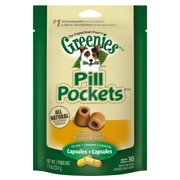 GREENIES PILL POCKETS Capsule Size Dog Treats Chicken Flavor, 7.9 oz. Pack (30 Treats)