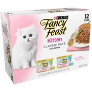 Purina Fancy Feast Kitten Classic Pate Collection Wet Cat Food, 3.0 Oz. Cans (12 Pack)