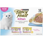 Purina Fancy Feast Kitten Classic Pate Collection Gourmet Wet Cat Food, 3.0 Oz. Cans (12 Pack)