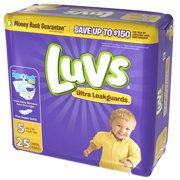 Luvs Ultra Leakguards Diapers Size 5 25 Count