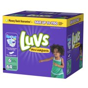 Luvs Ultra Leakguards Diapers Size 6 64 count