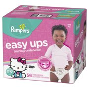 Pampers Easy Ups Training Underwear Girls Size 6 4T-5T 56 Count