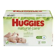 HUGGIES Natural Care Baby Wipes 3 Refill Packs (Total 624 wipes)
