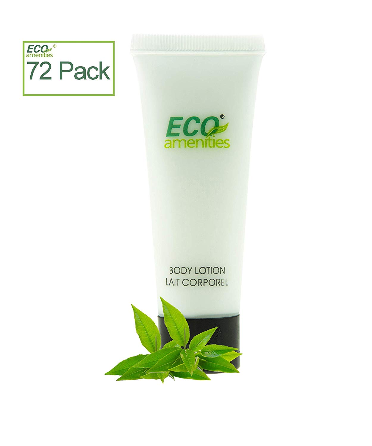 72 Tubes per Case, ECO AMENITIES Transparent Tube Flip Cap Individually Wrapped 30ml Body Lotion