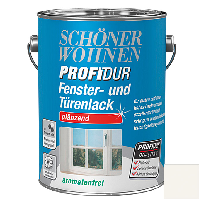 Colour varnish for windows and doors Schöner Wohnen ProfiDur Fenster- & Türenlack