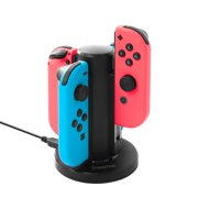Nintendo Switch Joy-Con Dock by Insten High Speed 4 Joy Con Docking Station Stand with Type-C Cable and LED Indicators for Nintendo Switch Joy-Con Controller