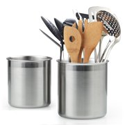 Cook N Home 02639 Stainless Steel Utensil Holder Jumbo 2pcs Set