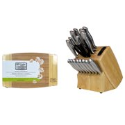 Chicago Cutlery Insignia Steel 19-Piece Wood Block Knife Set with Cutting Board