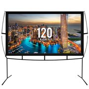 Jumbo 120 Inch 16:9 Portable Outdoor and Indoor Theater Projector Screen with Stand Legs