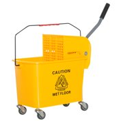 HOMCOM 5 Gallon Janitor Mop Bucket w/ Down Press Wringer