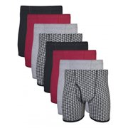 Men's Boxer Briefs With Covered Waistband, 8-Pack
