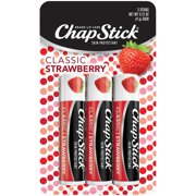 ChapStick Classic Lip Balm, Strawberry, 3 Count
