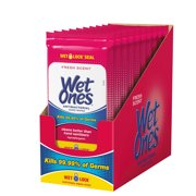 (Pack of 10) Wet Ones Antibacterial Hand Wipes Travel Pack, Fresh Scent, 20 Ct