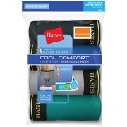 Hanes Cool Comfort Tagless Boxer Briefs, 4 Pack