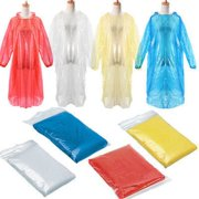 Outtop 10x Disposable Adult Emergency Waterproof Rain Coat Poncho Hiking Camping Hood